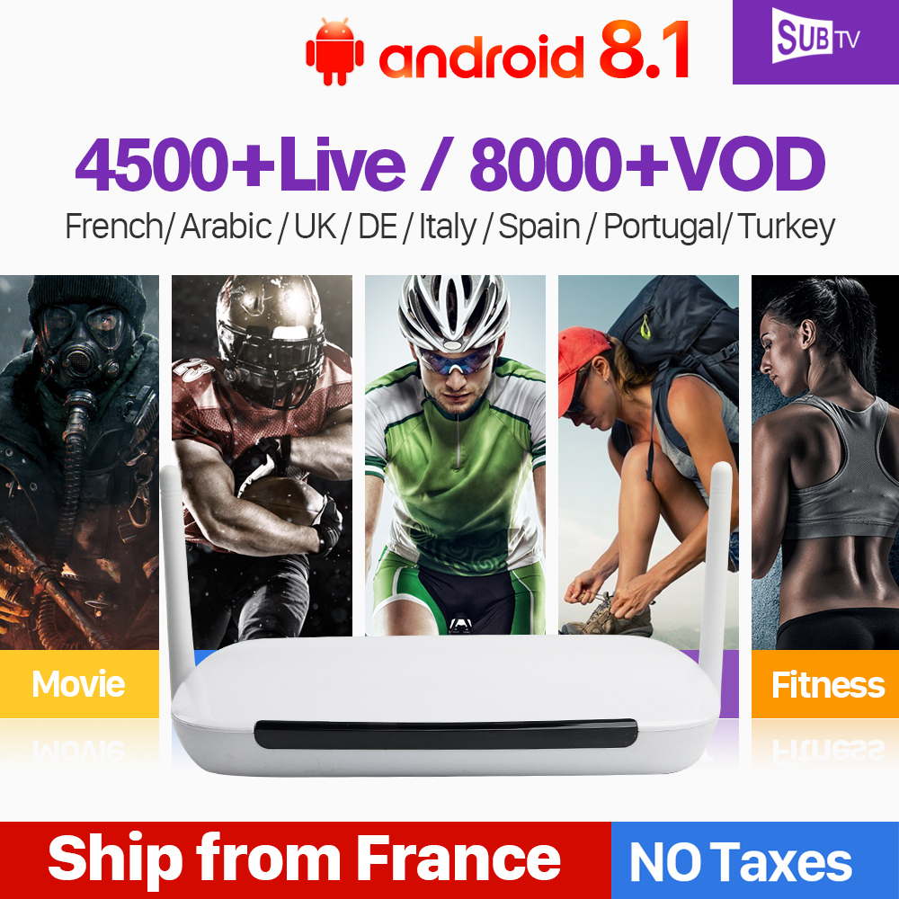 Leadcool Q9 Arabic French IPTV Subscription Box RK3229 1 8G Android 8 1 IPTV France Italy