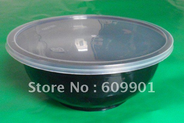 1000ml Microwave Disposable Plastic White Noodle Bowl Salad Soup With Lid On Aliexpress Alibaba Group