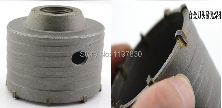 Free shipping 1PC carbide tipped wall hole saw 95*72*M22 strengthened electric Hammer hole saw for wall 60mm tungsten carbide tipped stainless