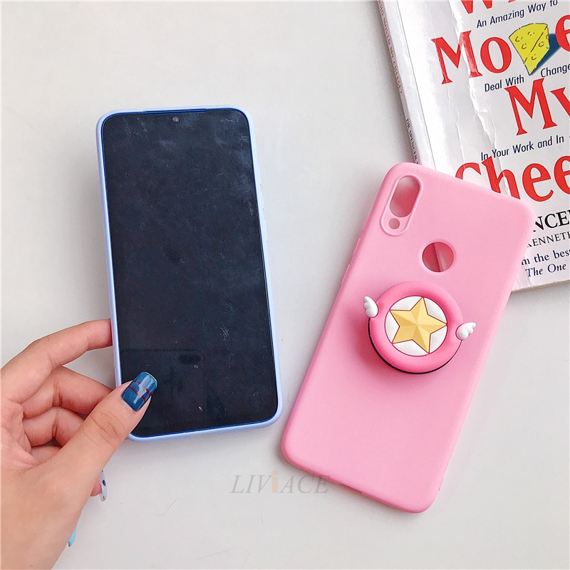 3D Cartoon Phone Holder Standing Case for Xiaomi Redmi Phone Made Of High-Quality Silicone And TPU Material 8