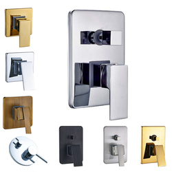Brass Bathroom Hot Cold Bath Mixer Valve Wall Mounted Water Control Valve Single Lever Shower Control Handle 5-Colors