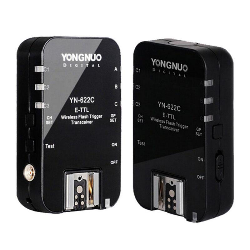 Prix pour YONGNUO YN 622C, YN-622C Sans Fil TTL HSS 1/8000 S Déclencheur Flash 2 Émetteurs-récepteurs pour Canon 1100D 1000D 650D 600D 550D 7D 5DII 50D