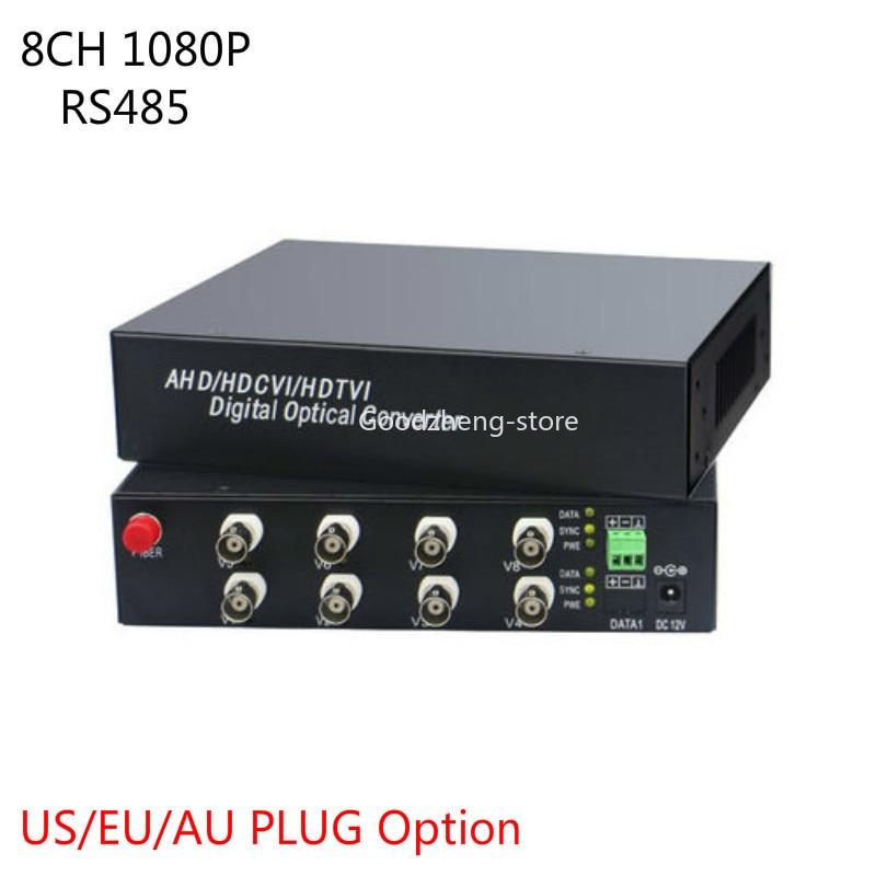 8CH 1080P AHD CVI Coaxial Video Data Fiber Media Converters Video Fiber Transceiver FC/Single Mode-1pair8CH 1080P AHD CVI Coaxial Video Data Fiber Media Converters Video Fiber Transceiver FC/Single Mode-1pair