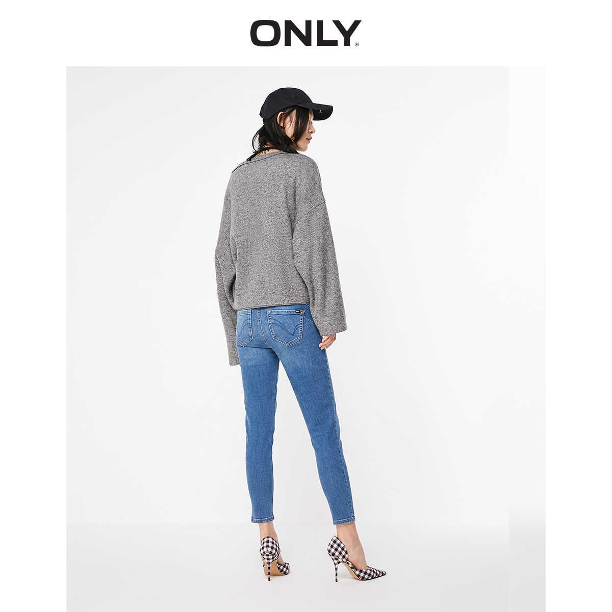 NUR Sommer frauen Slim Fit Low-rise Engen bein Ernte Jeans   119149641