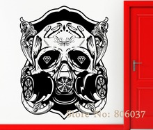 Removable DIY Wall Stickers Vinyl Decal Skull Scary Cool Gothic Decor Rock n Roll Special Home Decor Mural adesivo WA-31