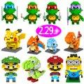 Bebé minion Pokemon anime Figuras Modelo Juguetes Para Niños bloques de Construcción de juguetes para los niños lepin etiqueta brinquedos LF484