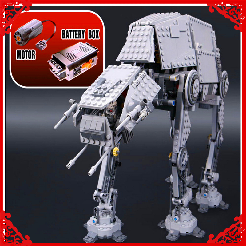 1137Pcs Star Wars Electric Remote AT-AT Robot Model Building Block Toys LEPIN 05050 Gift For Children Compatible Legoe 75054 kazi 560 pcs city war x agents armor chariot car model mech robot building block kids toys gift brinquedos compatible with legoe