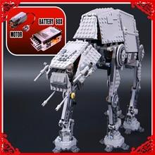 AT-AT LEPIN 05050 Star War Robot Elektryczne Zdalne Building Block 1137 Sztuk DIY Zabawki Edukacyjne Dla Dzieci Kompatybilny Legoe