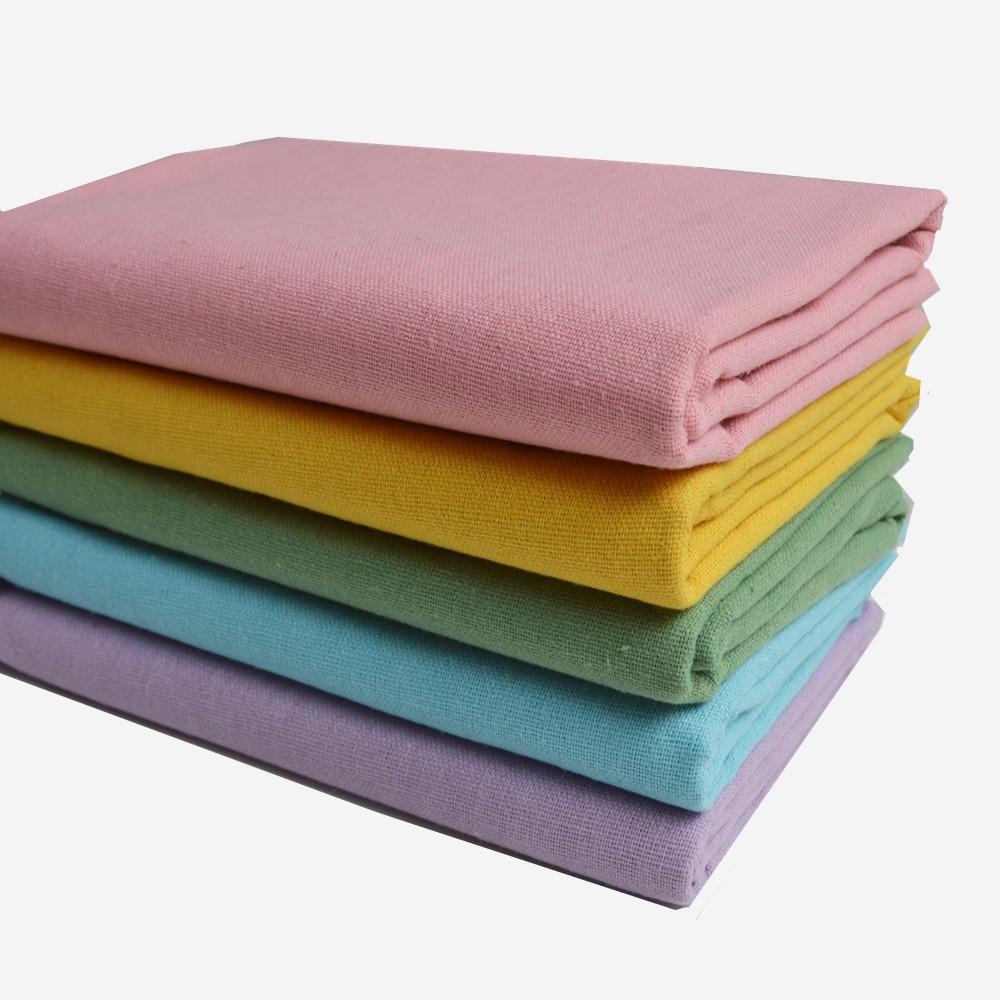 50 * 150cm vászon pamut szövet mérő Patchwork Costura Tissus kanapé szőnyeg varrás textil Tilda Telas Felt Tulle kopott sikkes
