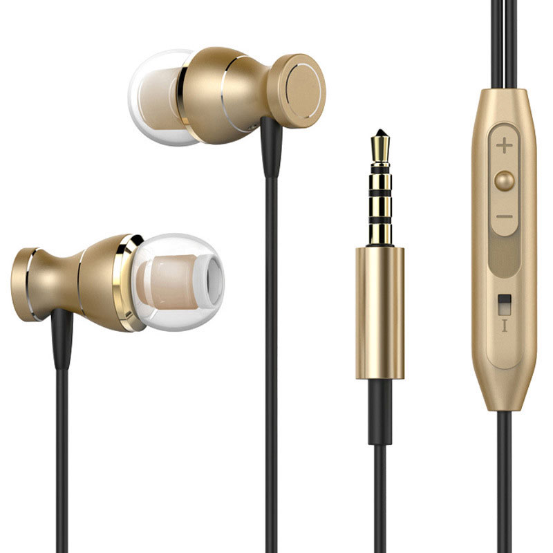 In-ear Earphones Magnetic Earphone Stereo Wired Gaming Headset Metal Sports Headphone Computer Earphone with Microphone plextone g20 wired magnetic gaming headset in ear game earphone with mic stereo 2m bass earbuds computer earphone for pc phone