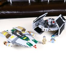 05030 722Pcs Star Wars Vader Tie Advanced VS A wing Starfighter 75150 Building Blocks Compatible with