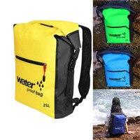 25L складной Водонепроницаемый рюкзак для плавания сухой Сумка-ведро рафтинг каякинга каноэ плавательным треккинг ранец для дайвинга сумка