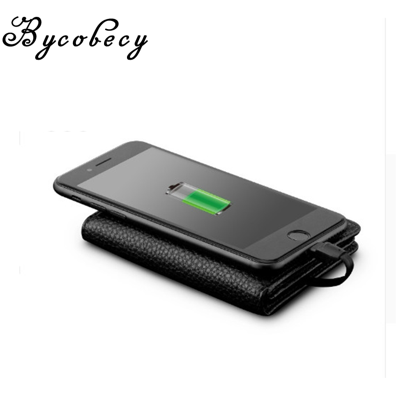 $37.39 BYCOBECY 2019 New PU Smart Wallet  With Iphone And Android Capacity 4000 mAh USB Charging Unisex For Travel Creative Wallets