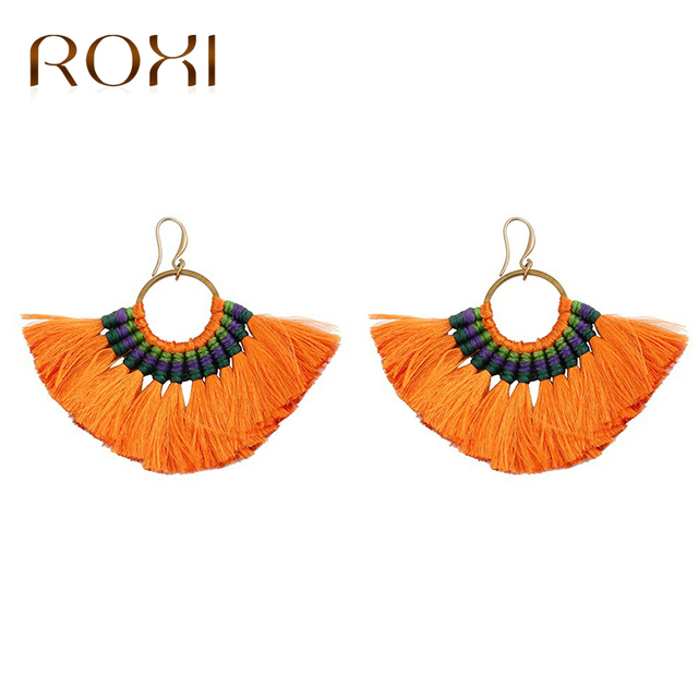 Roxi 10 Colors Bohemia Tels Earrings Handmade Statement Earring Colorful Drop Dangle For Women Brinco
