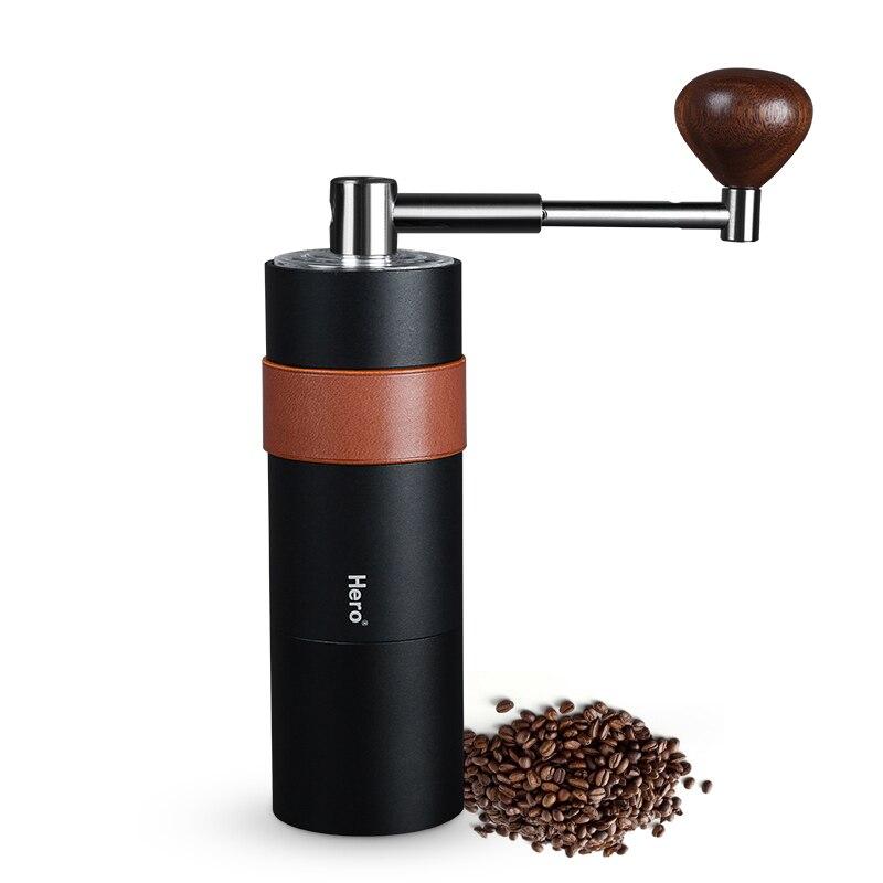 Main secouer moulin à café Portable voyage moulin à café conique couteau en céramique épaisseur réglable poignée pliante broyeur manuel