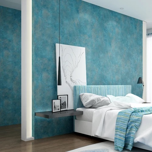 European Modern Luxury Style Wallpapers Living Room Background Wallpaper 3d Wall Papers Nonwoven Home Decor Blue Wall Paper Roll non woven bubble butterfly wallpaper design modern pastoral flock 3d circle wall paper for living room background walls 10m roll
