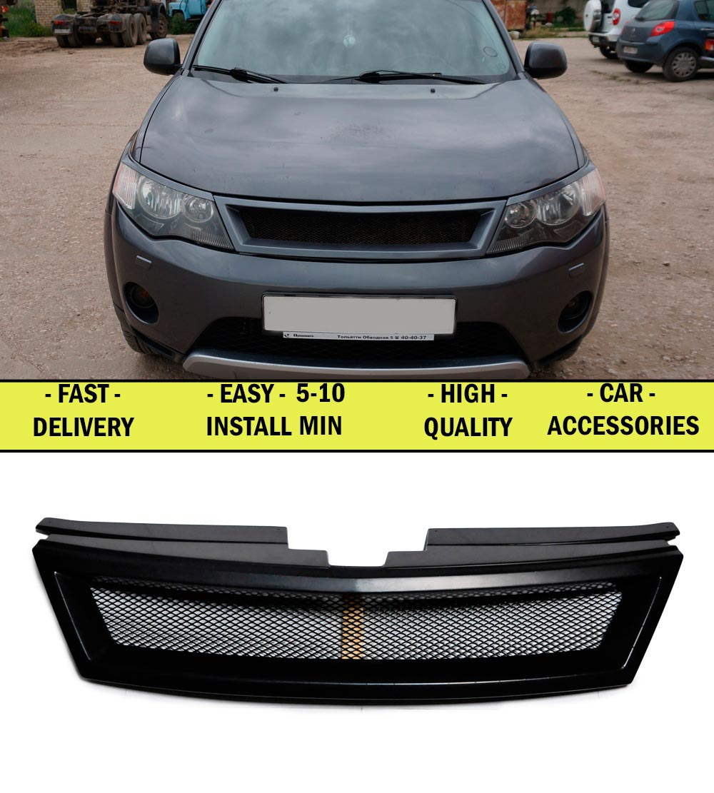 Radiator grille for Mitsubishi Outlander XL 2006-2009 ABS plastic tuning decor design sports styles car styling car accessories