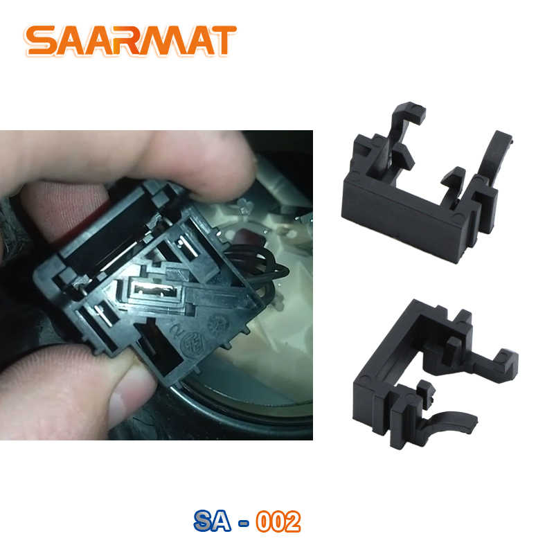 SAARMAT 2*Pieces H1 LED car Headlight Bulbs Lamp Adapter Holder Base For  Focus High beam Deck H1 Halogen upgrade to LED