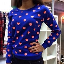 2016 New Literary Style Fashion Sweet Foamed Love Fashion weatshirts Blue Black Gray As1551
