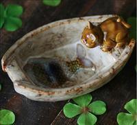 ceramic cat fish boat soap dish Fruit candy dish bathroom accessories set kit wedding home decor handicraft porcelain figurine