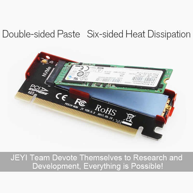 Jeyi cool swift nvme m.2 x16 pci-e 방진 라이저 카드 2280 알루미늄 시트 금 막대 열전도도 실리콘 웨이퍼 냉각