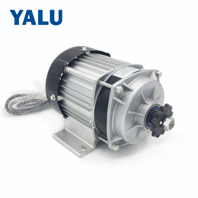 YALU BM1418ZXF 350W 48V BLDC DIY Brushless Motor Kit Geared Ebike Tricycle Kit Engine Electric rickshaw DC motor Chain Drive