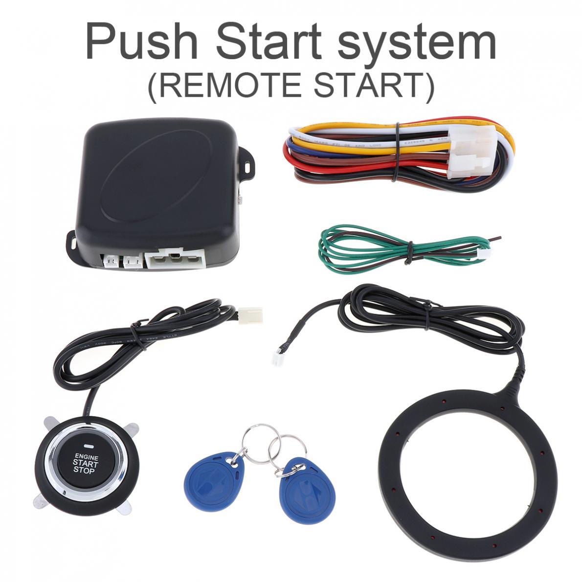 Universal 12V Car Auto RFID Safe Lock Ignition Car Alarm System & Warded lock Anti-theft Antitheft Push Start Button