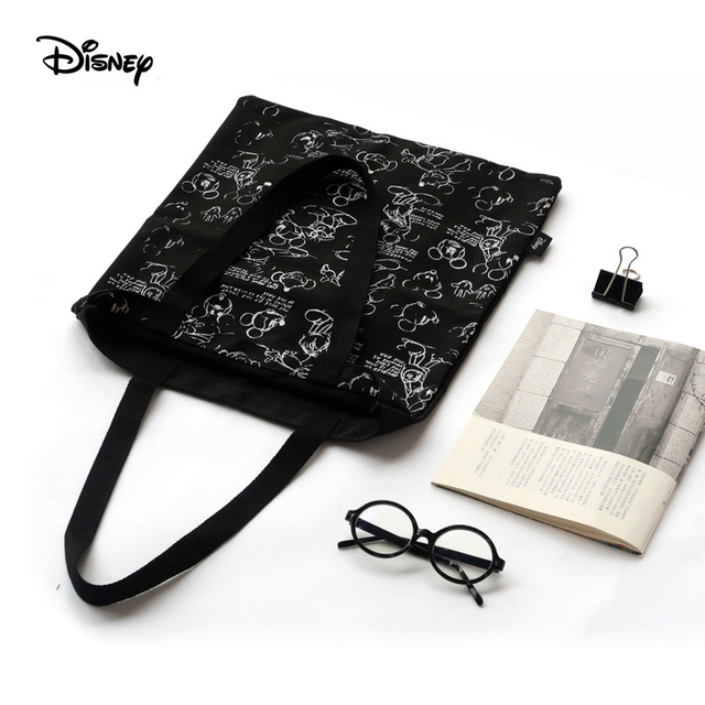 Genuine Disney Mickey Classic Retro Multi-function Simple Canvas Women Bag Canvas Bag Fashion Mummy Bag for Girls Gifts Hot Sale | Happy Baby Mama
