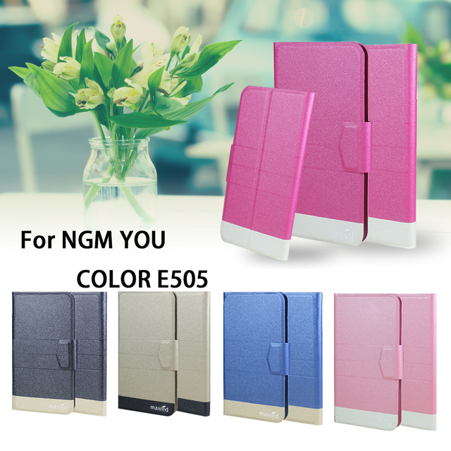 5 Colors Hot! For NGM YOU COLOR E505 Phone Case Leather Cover,Factory Direct Fashion Luxury Full Flip Stand Leather Phone Cases