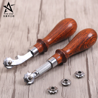 DIY Craft Spacing Rounds The Scriber Ling Auxiliary Cut Spacing With 4 Wheels Leather Craft Tools