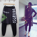 Olrain Women Hip Hop False Two Pieces Sweatpants Performance Wear Jazz Pants Casual  Loose Cross-pants