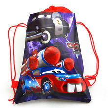 1pcs High Quality Disney Cars Drawstring Bags Kid Favor Cotton Travel Pouch Storage Clothes Shoes Bags School Portable Backpack(China)