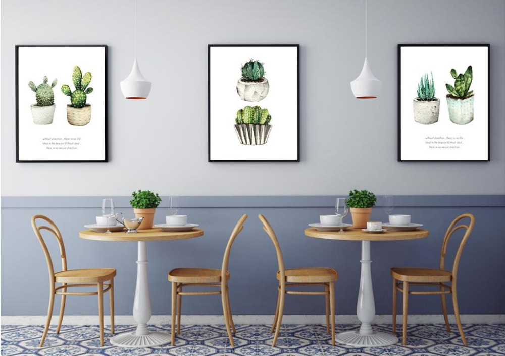 nordic simple verde planta de cactus canvas art print poster pared cuadros para la decoracin del