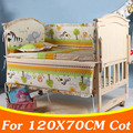 5PCS/set 120x70cm Newborn Baby Crib Bedding Set For Girl Boys Bedding Set Kids Baby Cot Bumper Baby Crib Bumper Mat Set CP02