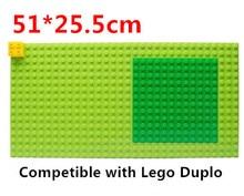 4pcs/lot Original Wange Big Baseplate 51*25.5cm 32**16 Particels for Big Blocks Compatible Baby toys