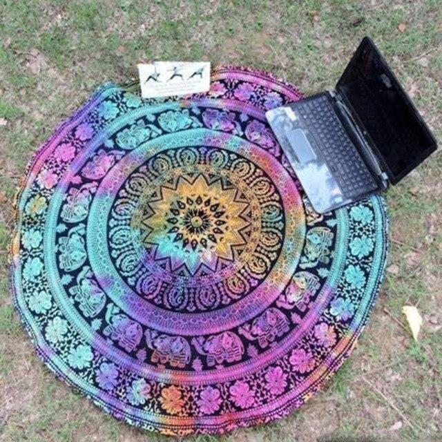 Indian Mandala Bohemia Tapestry Wall Hanging Peacock Printed Beach Throw Mat Yoga Tasse Mat Table Cloth Bedding 1