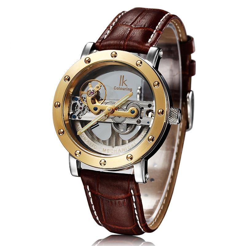 ФОТО Original  Mechanical Men watches Tourbillon automatic luxury brand business skeleton Genuine Leather strap Top brand relojes
