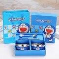 Детям подарок милый мультфильм детская посуда набор из трех частей с пластиной, кубок, чаша дети девочки мальчик наборы посуды