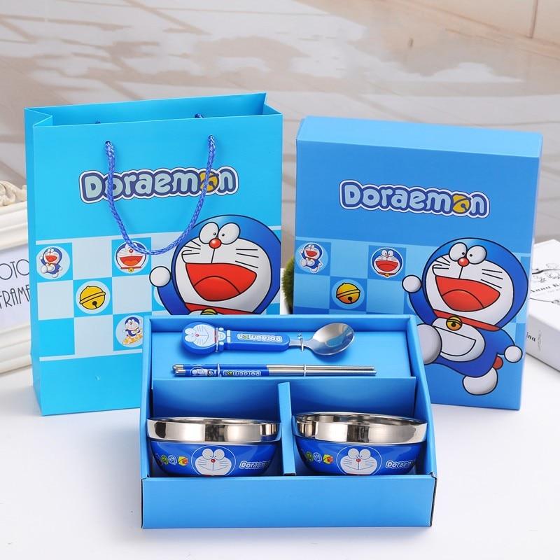 ילדים קריקטורה חמודה לילדים כלי שולחן להגדיר שלושה חלקים עם צלחת, כוס, קערה ילדים בנות ערכות כלי אוכל