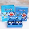 Children gift cute cartoon  Children's tableware set three-piece with plate, cup, bowl kids girls boy dinnerware sets