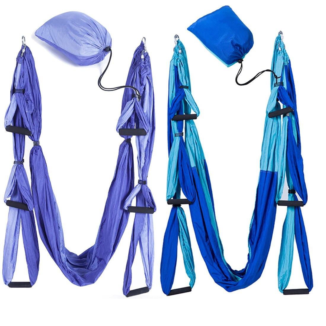 Remise en forme De Yoga Hamac Swing De Yoga Anti-gravité Aérienne Bretelles Haute Résistance Tissu De Décompression Avec 6 Grip Main Entrepôt