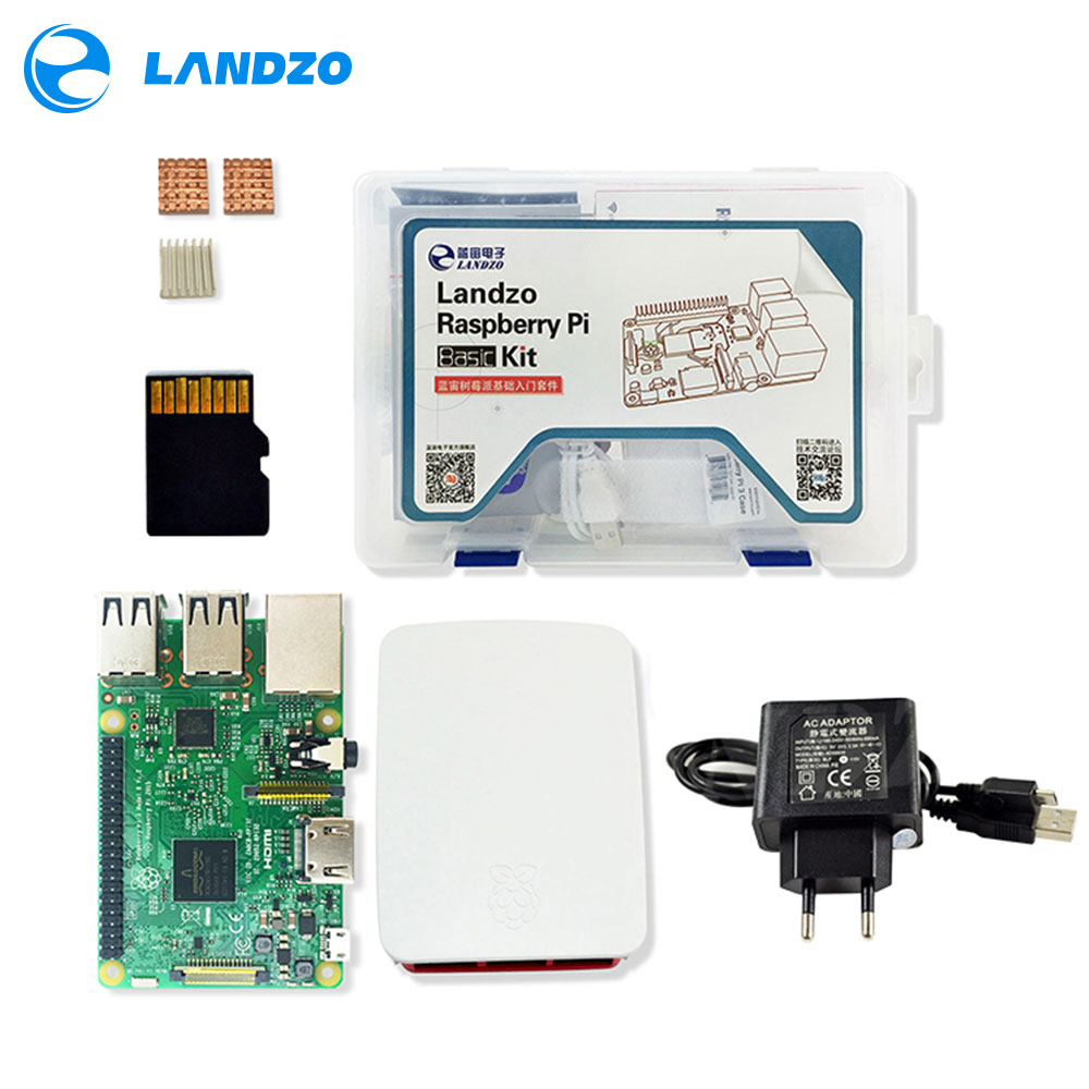 Raspberry pi 3 1 16G SD card 1 Original shell 1 EU power plug 1 heat