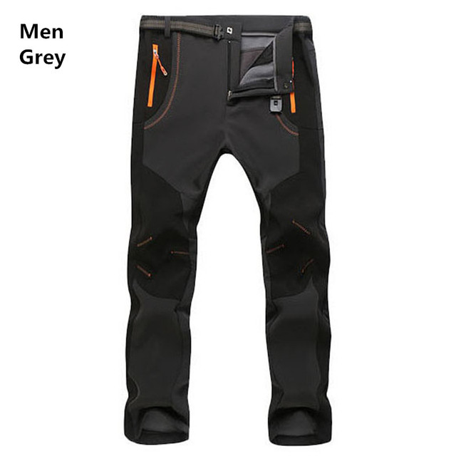 2017 New Winter Men Women Tactical Pants Outdoors Soft shell Trousers Waterproof Windproof Thermal for Camping Ski Climbing