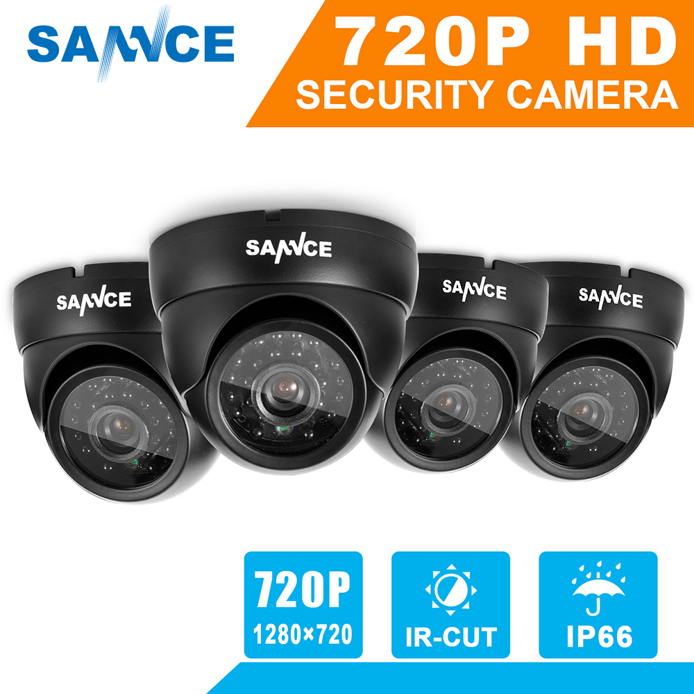 Здесь продается  SANNCE 1280TVL 720P Security Cameras System 4pcs 1.0MP outdoor Video Surveillance CCTV camera set with IR Cut night vision IP66  Безопасность и защита