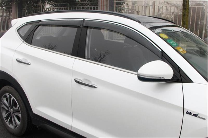 For Hyundai Tucson 2008-2014 /2015 2016 2017 Window Visor Vent Shades Sun Rain Deflector Guard Awnings Car Styling Accessories for ford explorer sport 2013 2014 2015 2016 2017 abs plastic window visors awnings rain sun deflector visor guard vent cover