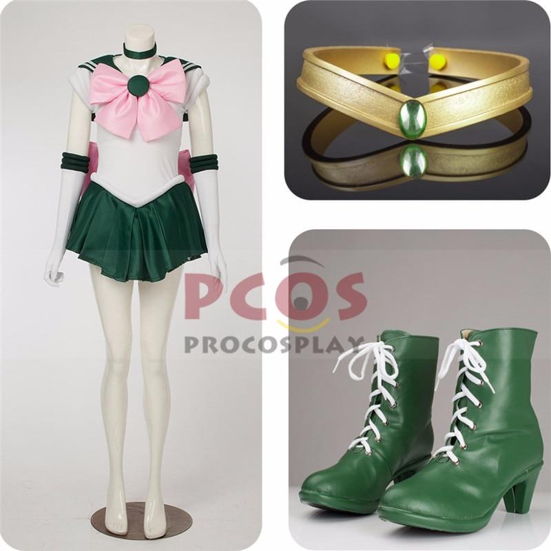 Beste prijs Set ~ Sailor Moon Sailor Jupiter Kino Makoto Cosplay - Carnavalskostuums - Foto 1