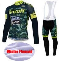 Super Quente Saxo Bank Jerseys de Ciclismo/Inverno Térmica Velo Bicicleta Roupa Ropa ciclismo/Roupas de Ciclismo de Alta Qualidade