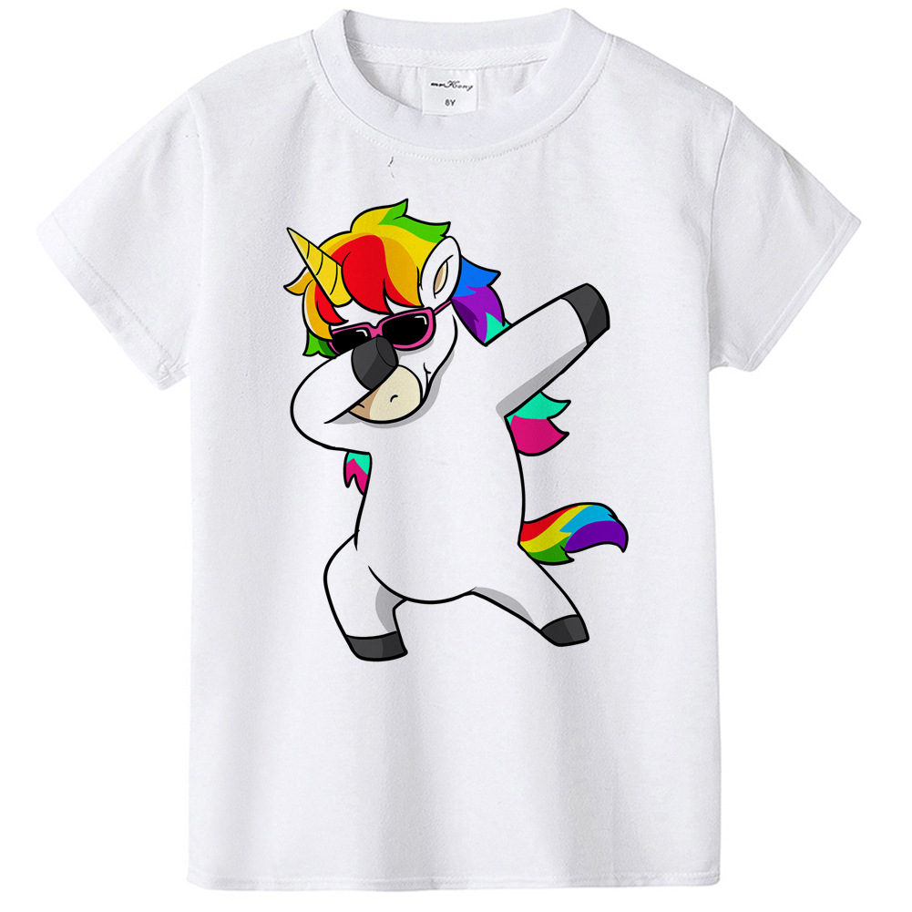 7bba4c7243bcb Kids Skirt And Top Swag Unicorn Dab Toddler Girl Clothes Set Short Sleeve  Unicornio Rainbow T Shirt Dabbing Licorne 1~12 Y-in Clothing Sets from  Mother ...