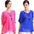 6xl plus size women clothing, blusa chiffon top, women polka dot shirt, blusas feminine blouses, fashion blouses & shirts