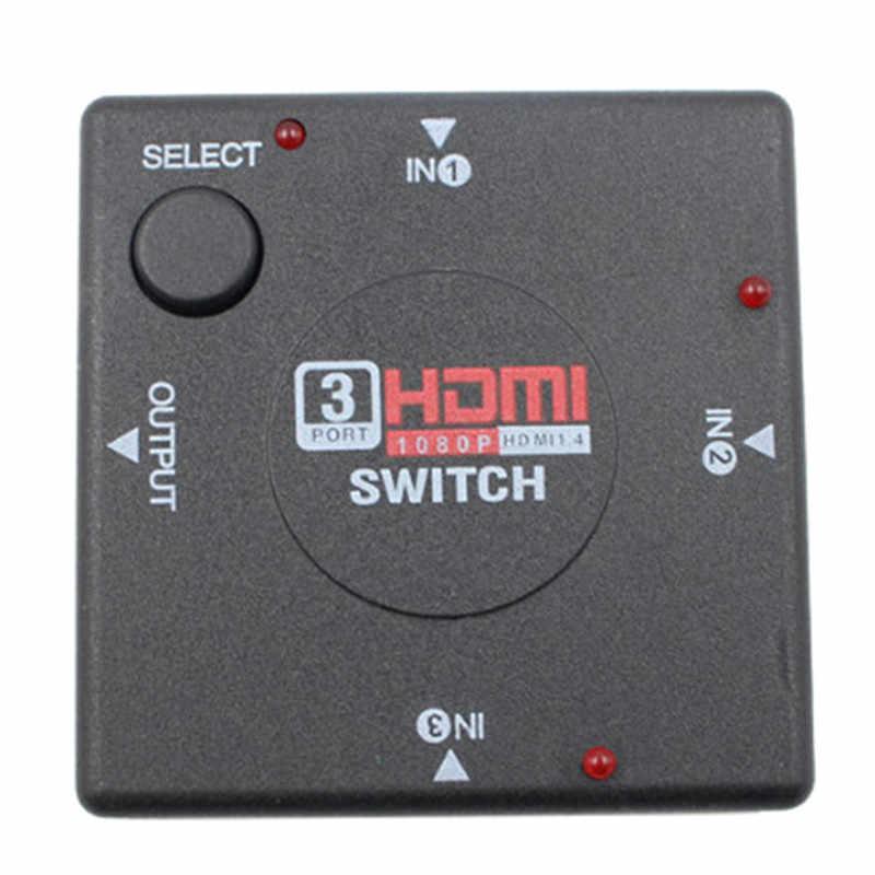 3 atau 5 Port HDMI Splitter Switch Selector Switcher Hub + Remote 1080 P untuk HDTV PS3 XBOX